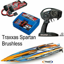 Traxxas Spartan Orange 2.4GHz TRX57076 4 ORNG COMBO +2 Batteries 3S + Charger