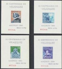 España 1961. Pintor Velazquez mismo numero. Ed 1344 / 1347. Pintura. MNH. **.