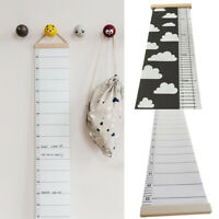 AU_ US_ Nordic Children Height Ruler Canvas Hanging Growth Chart Kids Room Wall