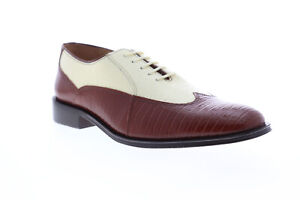 Giorgio Brutini Melby 210074 Mens Brown Leather Low Top Plain Toe Oxfords Shoes