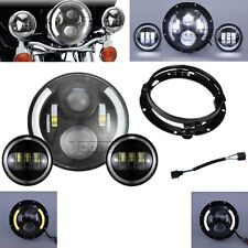 "Motorcycle 7"" LED Hi-Lo TP Headlight Passing Light for Harley Davidson Touring"