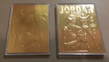 Michael Jordan Lot Of (2) 23 Karat Gold 1995 Upper Deck Mint Condition Rare