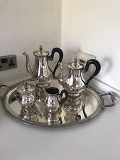 Christofle Silver Plate-Malmaison PATTERN - 5 Pezzo Tea & coffee set