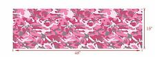 """GLOSS PINK DECAL MADE FROM 3M WRAP VINYL 48x15"""" TRUCK CAMO PRINT CAMOUFLAGE"""