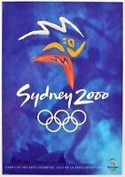 Sydney 2000 Official Olympic Poster Card Exclusive collect Strictly Merchandise