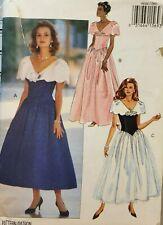 Butterick pattern 6644 Misses' wide collar, sleeveless Dress size 14,16,18 uncut