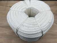 3 Strand Nylon Rope 8mm, 10mm,12mm,14mm,16mm,18mm  White Mooring/Anchoring
