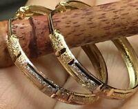 25mm GOLD Hoop earring 14K YELLOW WHITE Rose Tri Endless 1.7g