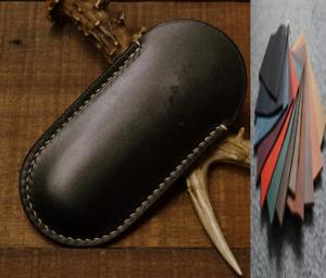 jackknife fold knife sheath scabbard case bag cow leather customize black A1019