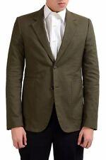 Maison Martin Margiela Men's Olive Green Slim Blazer Sport Coat US 38 IT 48