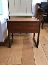 Retro Antique Mid Century Teak Sewing Box With Removeable Tray