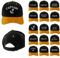 Capitaine Baseball Coton Hommes Femmes Famille Noir Doré Casquette Agents Blanc