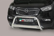 Vauxhall Mokka X Bull Bar Nudge A-Bar Nudge Bar 63mm Steel Chrome EC APPROVED