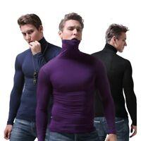 Thermal Underwear Mens Top High Collar Long Sleeve Thin Warm Slim Fit Shirt