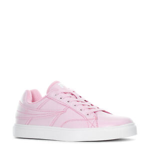 FILA SMOKE SCREEN LOW LEATHER SPORTS SNEAKER WOMEN SHOES PINK/WHITE SIZE 7.5 NEW