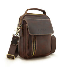 Gift Genuine Leather Men Vintage Shoulder Messenger Crossbody Sling Bag SATCHEL