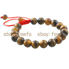 New Natural 10MM Tiger's eye stone Gem Tibet Buddhist Prayer Beads Mala Bracelet