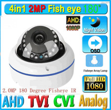 2MP HD 1080P TVI AHD  CVI Analog Camera wired 180 Degree Fisheye dome camera