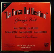 Gino Marinuzzi - Verdi La Forza Del Destino Part 2 LP VG 50.002 1st Press Vinyl