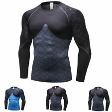 Men's Compression Shirt Cool Dry Base layer Pro Sports Workout Top Long Sleeve