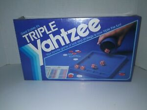Vintage 1982 Triple Yahtzee Milton Bradley - Factory Sealed Brand New! Rare