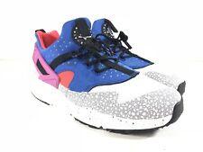 Nike Mens Air Huarache Utility PRM Safari White Blue Shoes 806979-104 Size 8