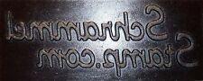 CONCRETE STAMP~CUSTOM Logo or Design/Decorative Cement Brick Tile Paver Mold Mat