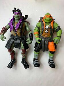 Teenage Mutant Ninja Turtles Donatello Michaelangelo 2014 Movie 12 Inch Figures
