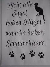 Markenlose Bastel-Schablonen mit Engel-Motiv
