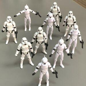 "10x 3.75"" Star Wars Stormtroopers OTC Trilogy &No.5 Clone Trooper Aciton Figures"