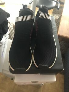 adidas BA7188 NMD_CS2 PK sneakers black canvas menses Sz 13 Pre Owned