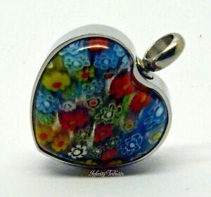 Ashes Necklace Cremation Urn Keepsake Pendant Multi-Coloured Heart