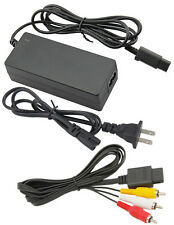 AC Adapter Power Supply & Audio Video A/V Cable for Nintendo GameCube Bundle