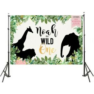 wild one birthday party background King of the Jungle backdrop for photo studio
