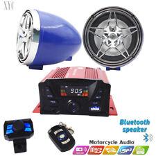 @12V Motorcycle Bluetooth Anti-Theft Speakers USB Audio FM Radio System Stereo