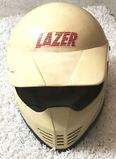 Vintage Lazer MX2 ATV BMX Motocross Quad  Full Face Helmet  Belgium Large