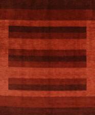 Striped Design Hand Knotted Modern 8x10 Gabbeh Oriental Area Rug Wool Carpet
