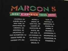 Maroon 5 s/s North American Tour 2013 Black 2 Sided T-shirt Mens Large