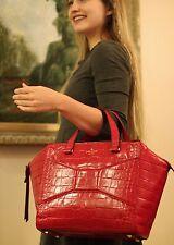 Kate Spade LARGE 2 Park Ave Exotic Beau Bag MADISON AVE RED SHOPPER HANDBAG LUXE