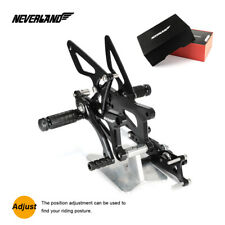 Rearset Foot Pegs Footrest Motorcycle Adjustable For TRIUMPH DAYTONA 675 06-12