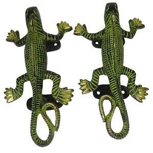 Lizard Shape Vintage Antique Style Handmade Chameleons Door Pull Handles Knobs