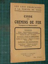 Code des chemins de fer voyageurs et marchandises