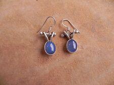 .925 dangle Earrings Chalcedony & Sterling Silver