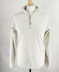 Womens BERGHAUS Fleece 1/4 Zip Jumper Pullover SIZE UK 12 EU 40 High neck Light