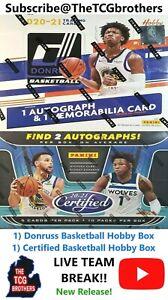 Memphis Grizzlies Break #970C 2020-21 Donruss Certified Basketball Hobby Box