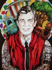 LEX outsider pop SuRReal tattoo Print  MR ROgErs Pbs Retro KidS Art painting
