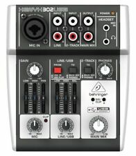 Behringer 302USB XENYX 3 Channel Mixing Console