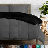 Bare Home Reversible Comforter - Twin/Twin Extra Long - Goose Down Alternative -