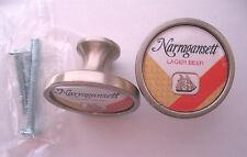 Narragansett Beer Cabinet Knobs, Narragansett Beer Logo Cabinet Knobs, Lager