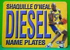 Shaquille O'Neal insert card Name Plates 1999-00 Skybox NBA Hoops #10